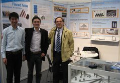 italy customer visting during germany tube fair