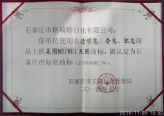 Registration of MEIWEI brand