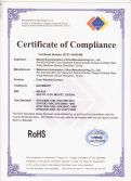 RoHS Certificate of Complianc