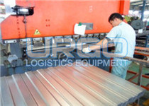 Steel pallet production line