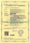 RoHS Certificate of Compliance for Switching Power Supply/SMPS
