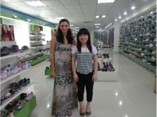 The client from Ukraine come to visit us