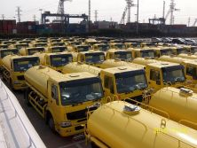 100 units Water truck shipment by bulk ship