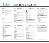 MSDS QBEKA SLIMMING CREAM
