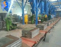 Green sand processing line