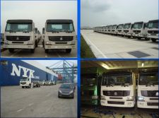 The Truck Exhibited Here are Exported by Our Company