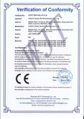 LED DOWNLIGHT CE-LVD certificates