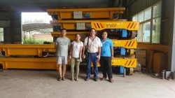 Father and daughter checked 120ton die cart