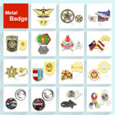 Metal badges