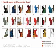 Electric Guitar & Bass Color Chart