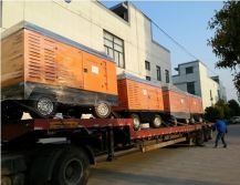 Diesel portable air compressor delivery to Scotland