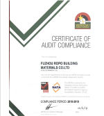 Certificate of Audit Compliance