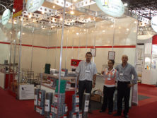 Customers in exhibition hall