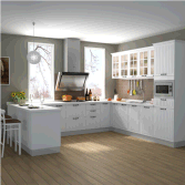 Custom New MDF or Particleboard Kitchen Cabinets