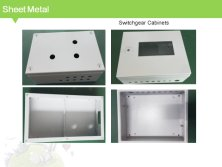 Sheet metal switchgear cabinet