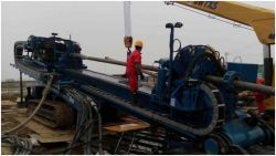 Success crossing project of DDW-6000 horizontal directional drilling rig