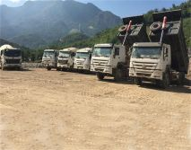 Trucks are running on client′s concrete plant