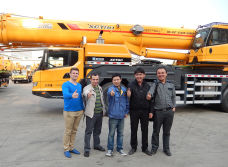 Russian customer visit XCMG