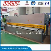 QC12Y-6x3200 hydraulic swing beam shearing machine at machine exhibition