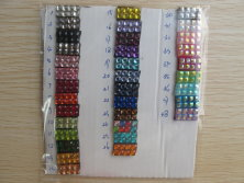 our rhinestone color chart