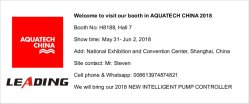 Welcome to visit our booth in AQUATECH CHINA 2018