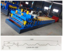 Popular tile forming machine,ready to load by indian friend