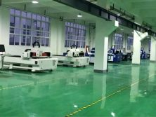 Metal laser cutting machine workshop