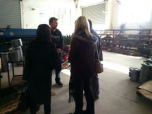 visiting and discuss production process