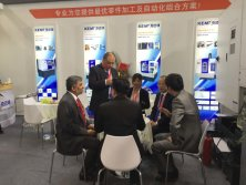 Customer talk in KEMT booth in China
