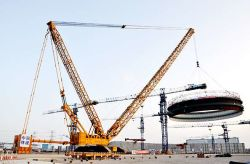 XCMG 2000t Crawler Crane Contributes to Nuclear Power Project