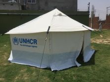We are the gold supplier of aluminium tent for IRC