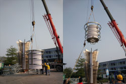 Ten 20-meter Indian landmark columns (spiritual bastions) are in tight production.