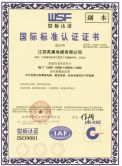 International standard certification