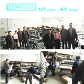 Italian customers visit tamprinter factory need 4 auto screen printer line