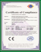 CE certficate for MS3391-C
