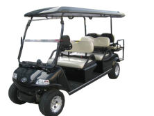 Electric Golf People Mover Del3042g2z, 4+2-Seater Black