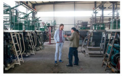 Ukraine agent visiting our factory