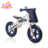 Blue wooden balance bikes for toddlers