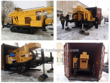 Hanfa HFW300L Crawler Type Water Well Drilling Rig Exported To Philippines