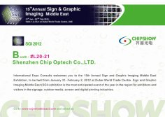 Chipshow Will Be Present At The Sign & Graphic Imaging Middle East Exhibition