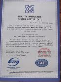 ISO9001 Certificate --Industrial Washing Machine Supplier