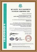 We has been certified with ISO9001.