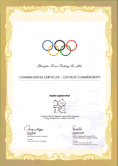 Olympic Commemorative certificate