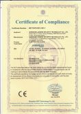 CE Certificate for bolt lock