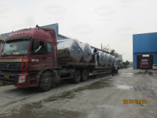 Mixing tanks ready for delivery
