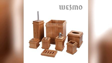 White Washed Wood Bathroom Accessories (WBW0260A)