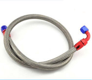 "3 hose 3AN 22/"" Stainless Braided PTFE Brake Line Straight Ends"