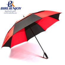 4b6be32a4f224 High Quality Windproof Vented Outdoor Golf Umbrella with Colored Fiberglass  Ribs