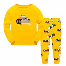 Children Clothing Kids Clothes Cotton 2 Piece Sleepwear Long Sleeve Pajama Set Toddler Pajamas Truck Dinosaur
