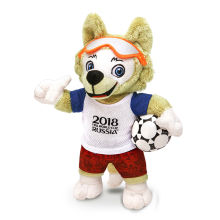 1b8e6fa0e6eab 2018 World Cup Wolf Animal Mascot Custom Sports Plush Toy